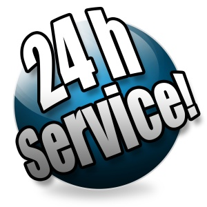 24h Service! Button