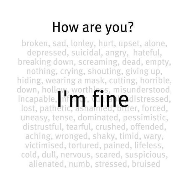 How are you-I'm fine